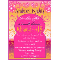 18th Birthday Arabian Nights Invitation