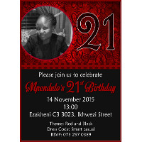 21st Birthday Female Invitation