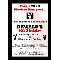 30th Birthday Male Playboy Invitation