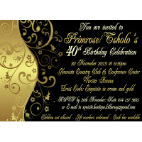 40th Birthday Female Invitation