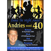 40th Birthday Male Invitation