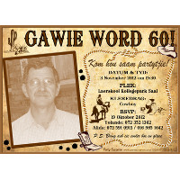 60th Birthday Male Cowboy Invitation
