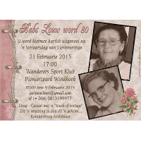 80th Birthday Female Vintage Invitation