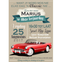 40th Birthday Vintage Car Invitation