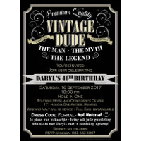 40th Birthday Vintage Dude Invitation