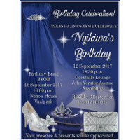 Royal Blue Glitz and Glam Invitation