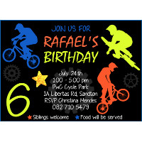 BMX Bicycle Invitation