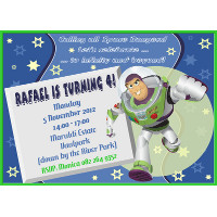 Buzz Lightyear Invitation