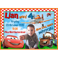 Disney Cars & Planes Invitation