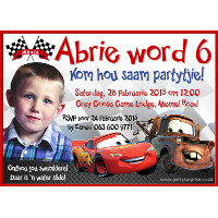 Disney Cars Invitation