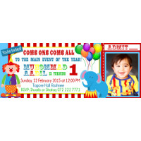 Circus Party Invitation