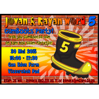 Gum Boots Party Invitation