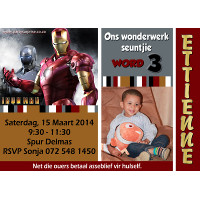 Iron Man Invitation