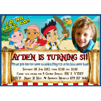 Jake and the Neverland Pirates Invitation