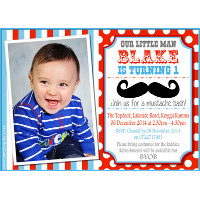 Little Man / Moustache Invitation