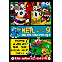 Mixels Invitation