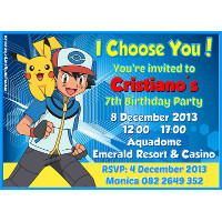 Pokemon Invitation