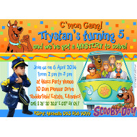 Scooby Doo Invitation