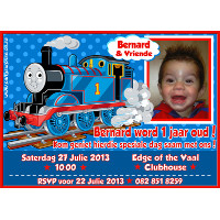Thomas Train Invitation