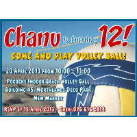 Volley Ball Invitation