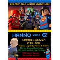 Superhero Lego Invitation