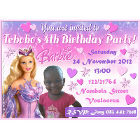 Barbie Invitation