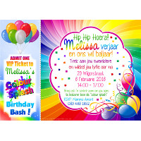 Colour Splash Invitation