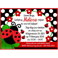 Ladybird Invitation
