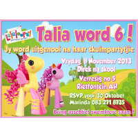 Lalaloopsy Pony Invitation