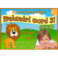 Lion Party Invitation