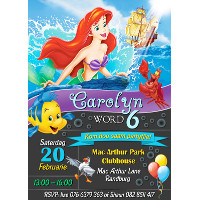 Little Mermaid / Ariel Invitation