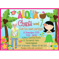 Luau / Hawaii Party Invitation