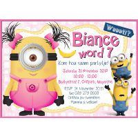 Minion Pink Invitation