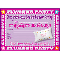 Sleepover Pillow Invitation