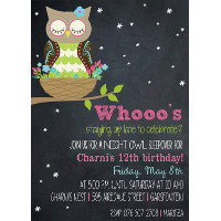 Sleepover Owl Invitation