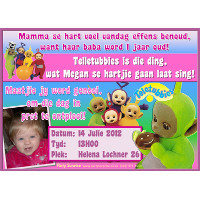 Teletubbies Invitation