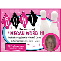 Girls Ten Pin Bowling Invitation
