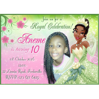 Princess Tiana Invitation