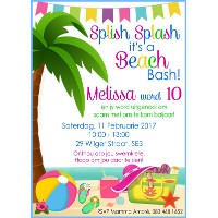 Beach Bash Invitation