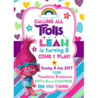 Trolls Invitation