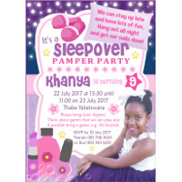 Sleepover Pamper Party Invitation